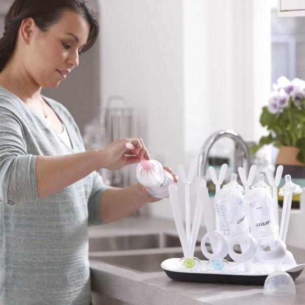 Esterilización y limpieza de sacaleches y biberones