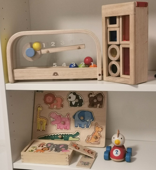 juegos para bebés de madera